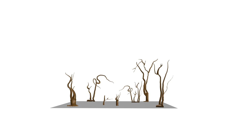 trees salvador dali 3d 3ds