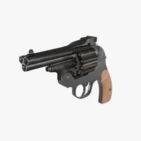 pistola revolver 3d max