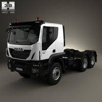 3d iveco trakker 3-axle model