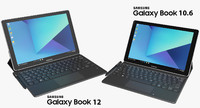 realistic samsung galaxy book 3d model
