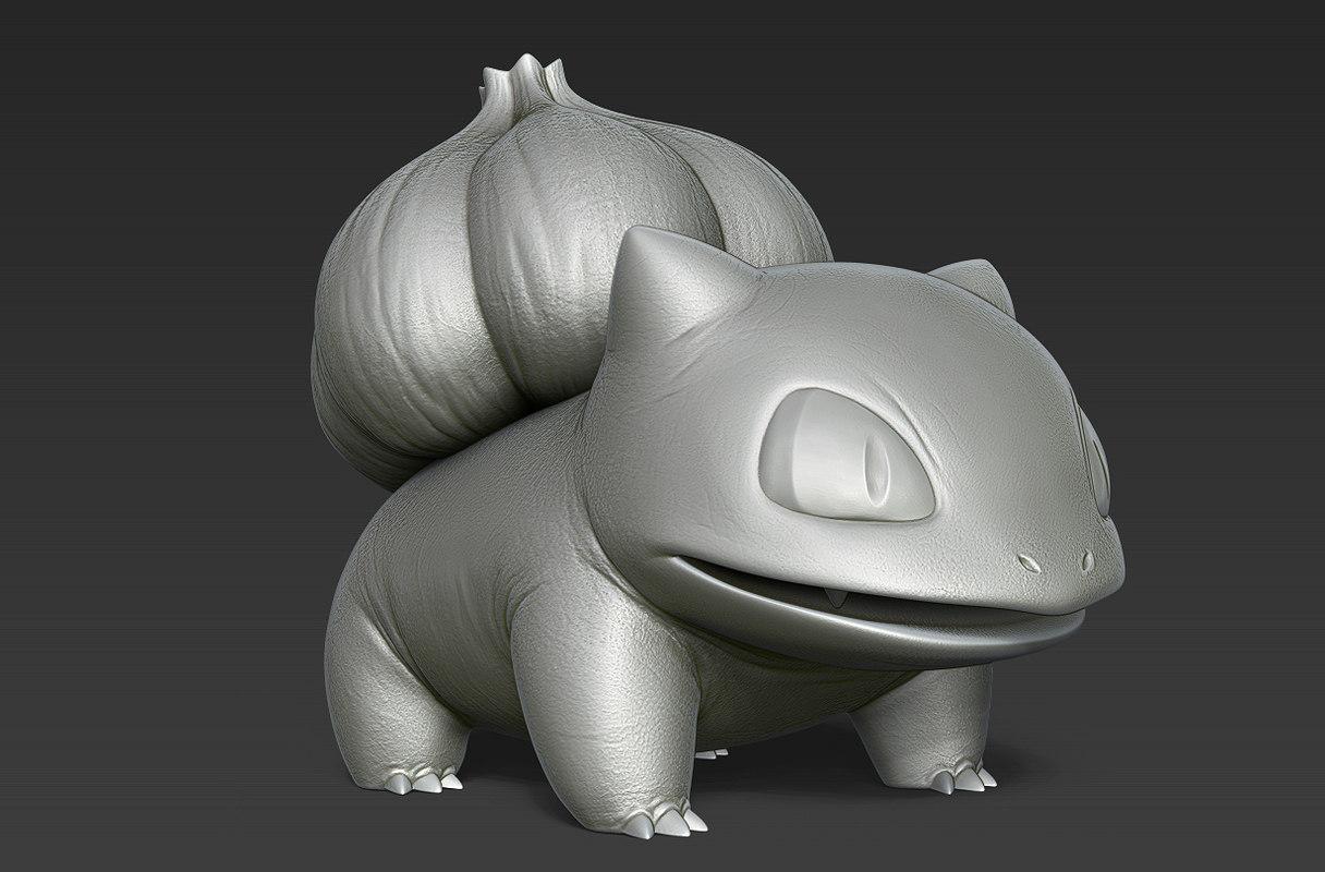 3d model pokemon bulbasaur print