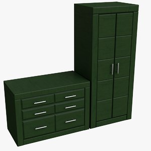 chest drawers cupboard 3d model