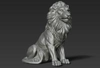 3d model lion sculpture print