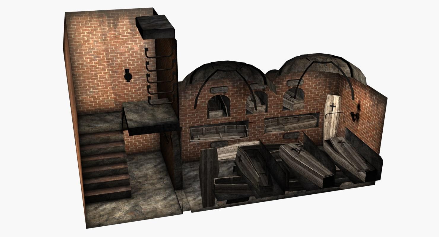 3d crypt historical model