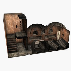 3d crypt historical model