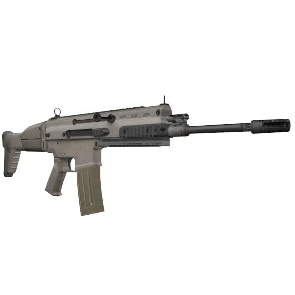 scar heavy assault rifle 3d 3ds