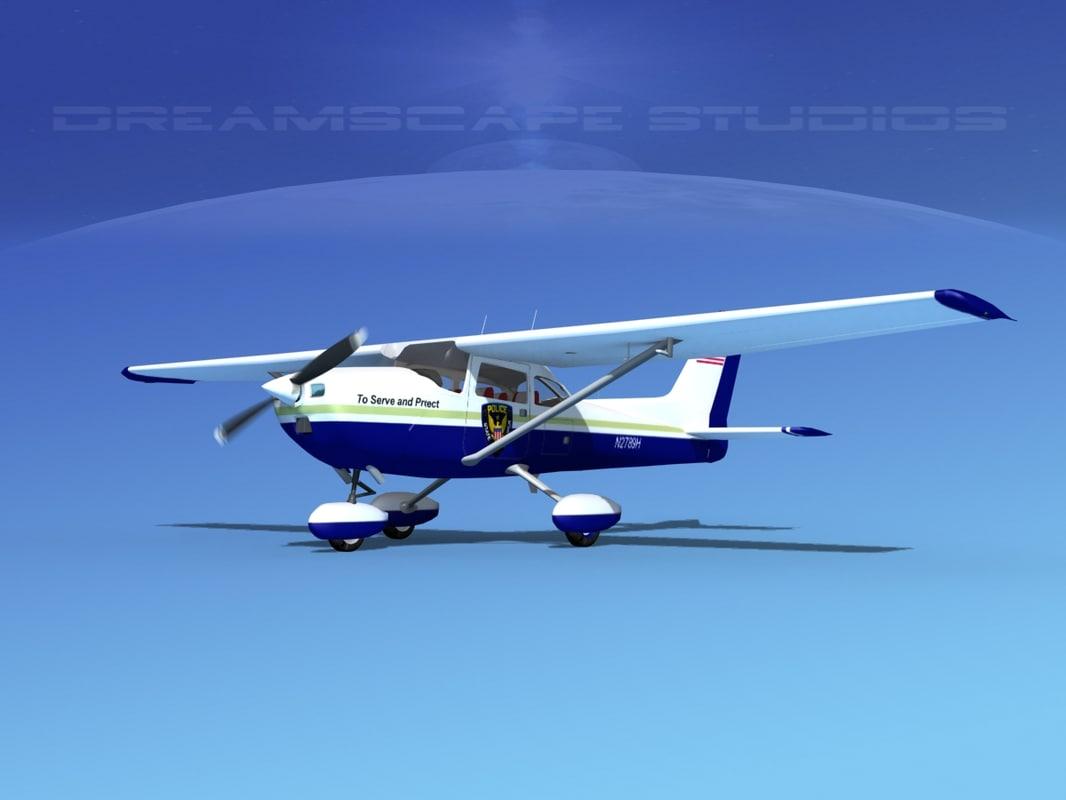 cessna 172 skyhawk 1976 3d max