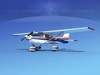 cessna 172 skyhawk 1976 3d model