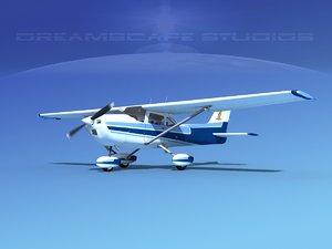 3d model cessna 172 skyhawk 1976