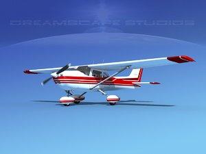 cessna 172 skyhawk 1976 3d dxf