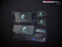 3d model console sci fi