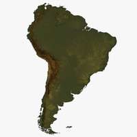 relief south america 3d max