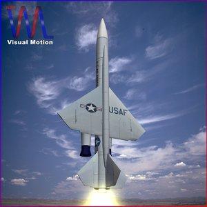 cim-10 bomarc air missile 3d 3ds