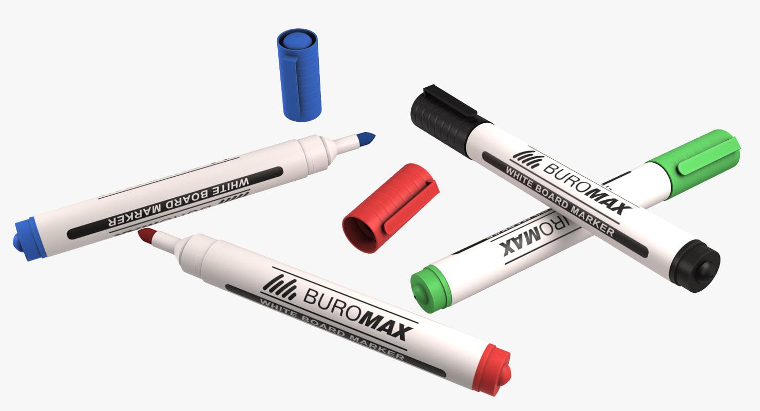 white board marker 3d model