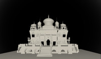 3d indian fantasy temple model