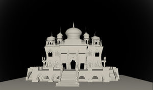 3d indian fantasy temple model