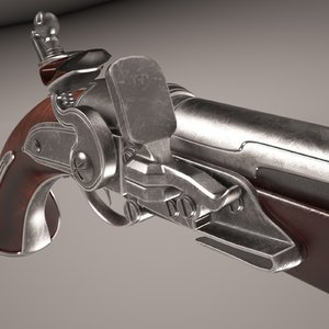pistol duels weapon 3d model