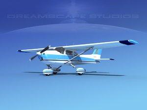 3d cessna 172 skyhawk 1976 model