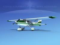 3d cessna 172 skyhawk 1976