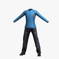 mens clothing 21 3d model