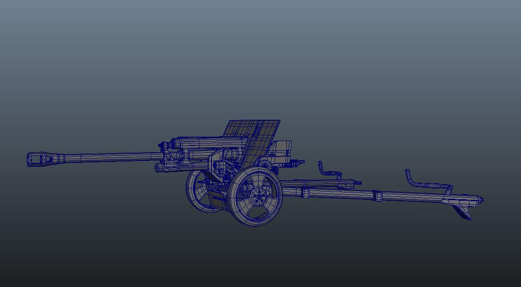 3d model gun zis-3