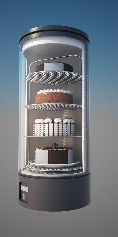 display case refrigerated bartscher max
