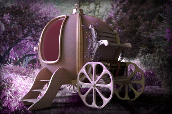 3d model pumpkin coach