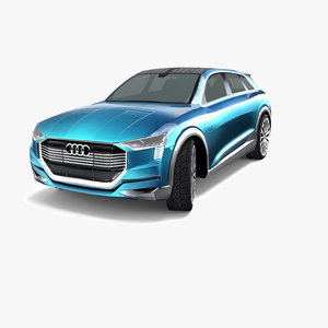 3d audi e-tron quattro concept model