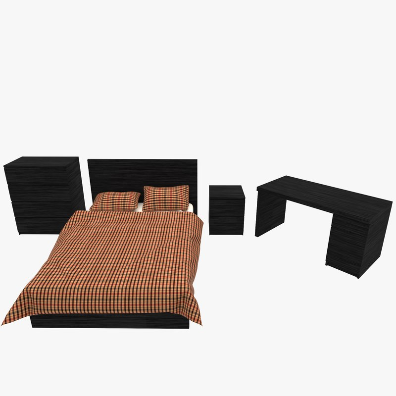 bed desk 3ds