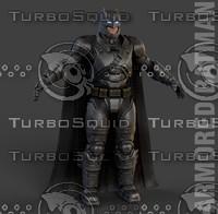 batman armor v superman 3d model