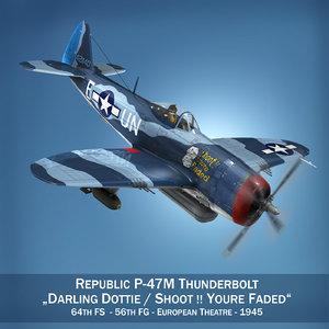 3d republic p-47m thunderbolt -