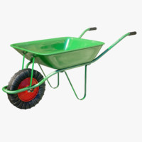 3d model of 4k wheelbarrow