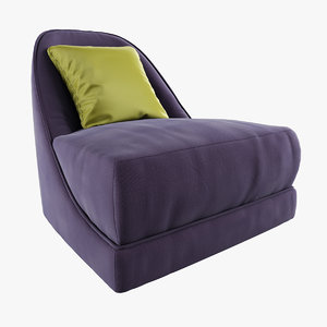 3d lucille armchair opera contemporary
