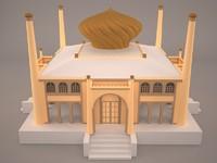 3d model palace building house