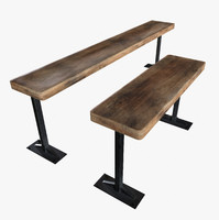 Bench Game Ready PBR Textures Low Poly