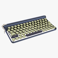 max photoreal antique keyboard