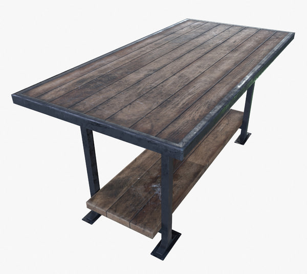 3d ready work table pbr