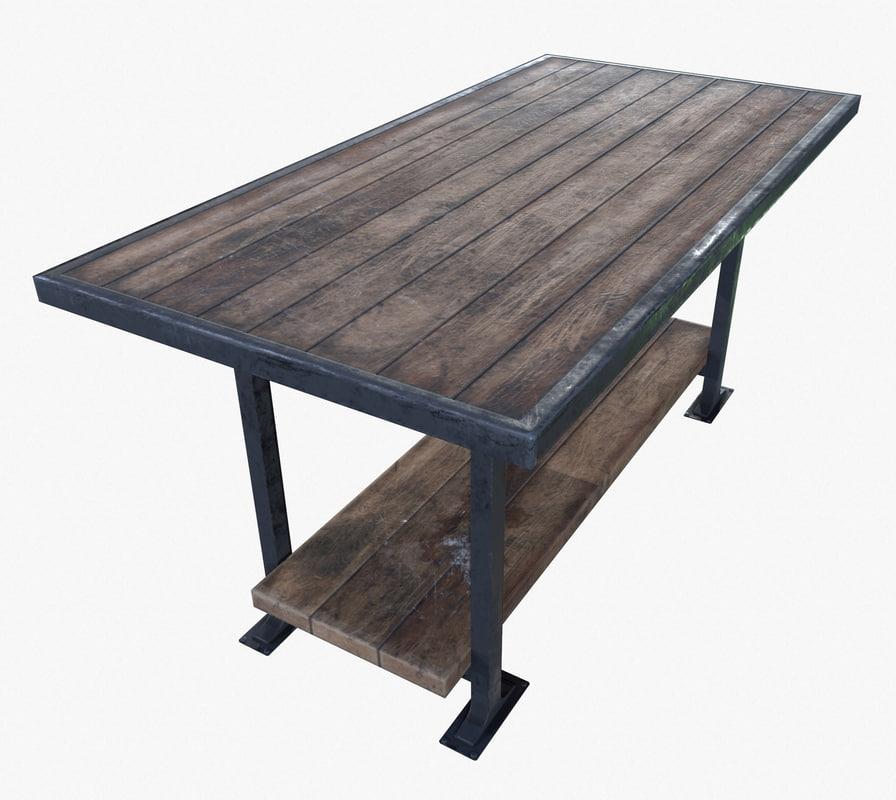 3d ready work table pbr