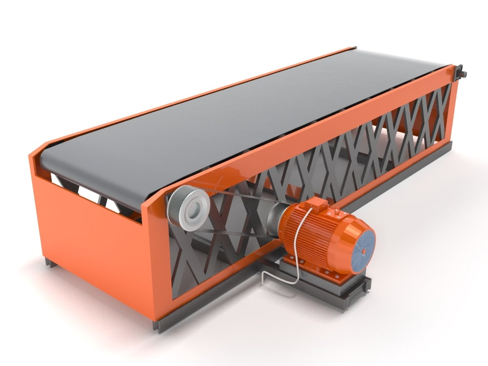 belt conveyor industrial 3d max