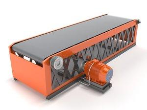belt conveyor industrial 3d max