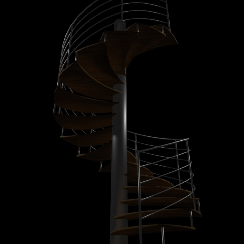 3d model staircase stair spiral