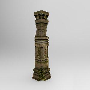 stonebigpillar01 modelled 3d max