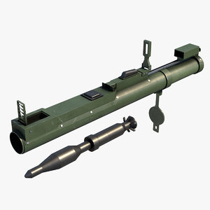m72 law rocket launcher 3d model