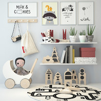 3d model nursery decor
