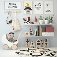 3d model nursery decor