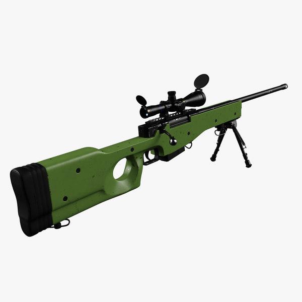 sniper rifle l96 3d model