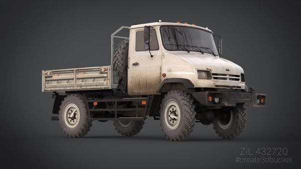 3d model truck car