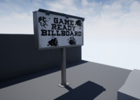 billboard ready 3d blend