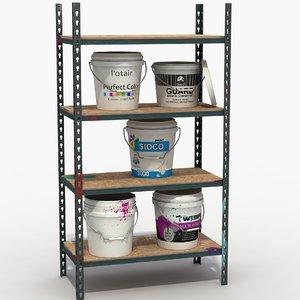 paint buckets shelves max