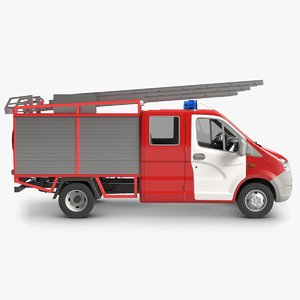 gazelle firefighter car 3d model